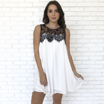 Babydoll Lace Shift Dress