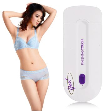 YES Finishing Touch Hair Remover As Seen on TV Instant & Pain Free Hair Removal with Laser Sensor Light Safely Shaver