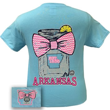 Girlie Girl Originals Arkansas Chevron Mason Jar Preppy State Bow Bright T Shirt