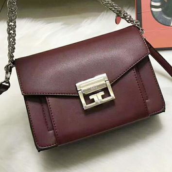 Celine Trending Leather Shoulder Bag Crossbody Satchel For Women Wine red G-QS-MP-JZLB