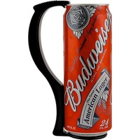 Instant Beer Stein Can Grip Handle - 24 oz Tall Boy - Black