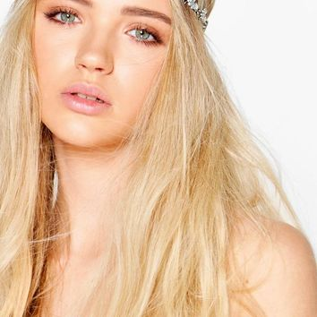 Ivy Embellished Floral Elasticated Hair Chain | Boohoo