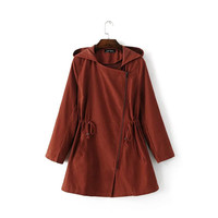 Autumn Classics Vintage Shaped Long Sleeve Hats Coat Windbreaker [8173492231]