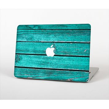The Trendy Green Washed Wood Planks Skin Set for the Apple MacBook Air 13""