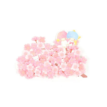 Little Twin Stars Greeting Card: Pop-Up Pink Blossoms - Blank
