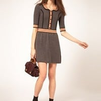 NW3 | NW3 Knitted Dress with Piping Detail at ASOS