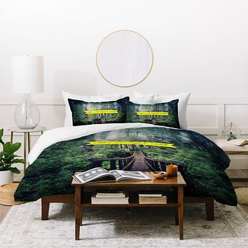 Leah Flores What A Wonderful World Duvet Cover