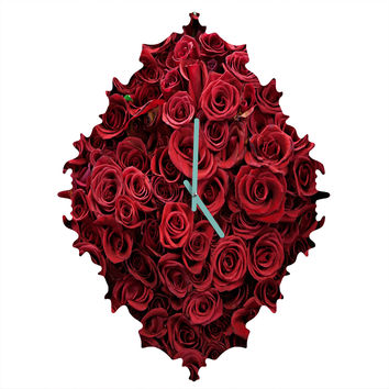 Catherine McDonald Flower Market 3 Baroque Clock