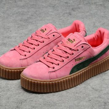 Puma Fenty by Rihanna Pink Creepers Women's Suede Shoes