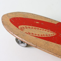 Vintage Shark Skateboard  - Nash Red Shark Skateboard, 1