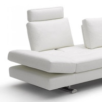 Contemporary White Italian Leather Sofa Set