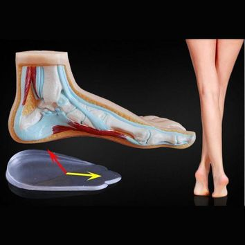 1 Pair New Style Silicone Gel Orthopedic Shoe Pad Insoles Women's High Heel Elastic Cushion Protect Feet Palm Care Pads Shoe