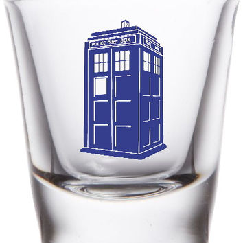 Dr. Doctor Who Tardis Promo Shot Glass LIMITED EDITION