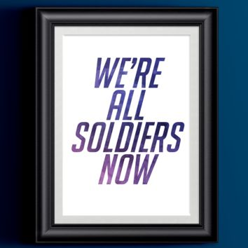 Overwatch Poster Soldier 76 We're All Soldiers Now Art Print | Wall Decor Gamer