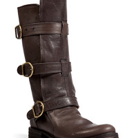 Fiorentini & Baker - Leather Buckled Boots in Elmo-Brown