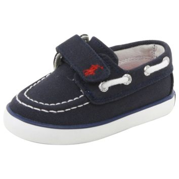 Polo Ralph Lauren Toddler Boy's Sander EZ Navy/Red Sneakers Boat Shoes