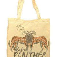 Maison Scotch summer canvas shopper panther
