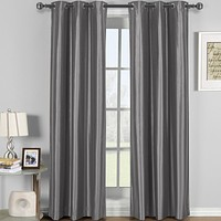 GRAY 42x63 Soho Grommet Thermal coating Blackout Window Curtain (Single Panel)