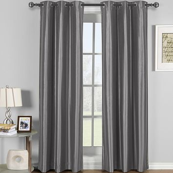 GRAY 42x96 Soho Grommet Thermal coating Blackout Window Curtain (Single Panel)