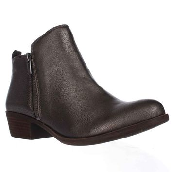 Lucky Brand Basel Side Zip Ankle Boots, Old Pewter, 7 US / 37 EU