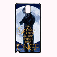 Once Upon a Time Captain Hook Believe 74198d04-59c5-4f38-83a3-0bdaf97940cc FOR SAMSUNG GALAXY NOTE 3 CASE**AP*