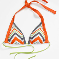 BCA Chevron Stripe Triangle Bikini Top | Nordstrom