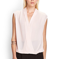 Crossed Front Sleeveless Blouse