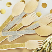 Glitter Forks and Spoons (Set of 24)