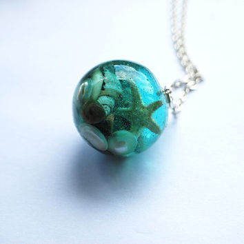 The Mermaid's Necklace 04 Nautical Jewelry by NaturalPrettyThings