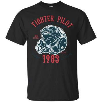 Fighter Pilot Air Force Classic Jet Plane Design T Shirt