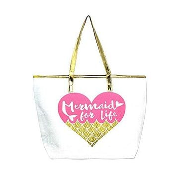 Mermaid for Life Beach Bag