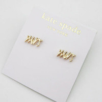 "Kate spade gold""Say Yes Mrs"" stud earrings"