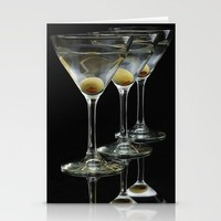 Three Martini's and three olives.  Stationery Cards by Wood-n-Images | Society6