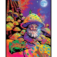 Mushroom Man Blacklight Poster - Spencer's