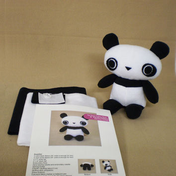 Panda Bear Plush Tutorial Sewing Kit DIY