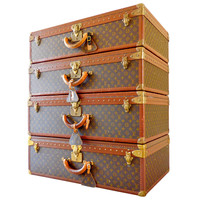 Fabulous Group of Vintage Louis Vuitton Alzer Series Luggage, circa 1970s