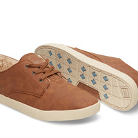 CHESTNUT SYNTHETIC LEATHER WOMEN'S PASEOS