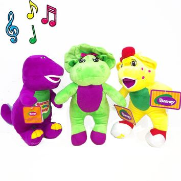 """30CM BOHS Musical Singing Song Plush  Dinosaur 11"""" I LOVE YOU Song PLUSH DOLL Electronic  Toys with Battery"""