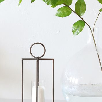 "Hanging Metal Candle Holder - 16.25"" Tall"