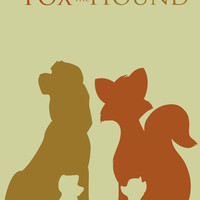 The Fox and The Hound Art Print by Citron Vert | Society6