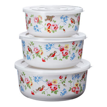 Baking | Set Of 3 Bird Food Containers | CathKidston
