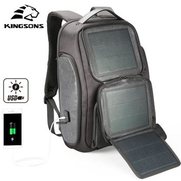 Solar Backpack w/ Fast USB Charging for 15.6 inches Laptop and Cell