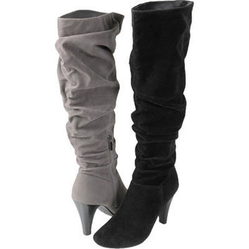 Brinley Co. Womens Slouchy High Heel Boots | Meijer.com