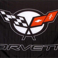 Corvette (Black) Logo Auto Dealer Banner Flag Sign