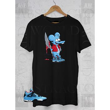 Itchy the Mouse Air Jordan 4 Cactus Jack Adult Unisex T Shirt