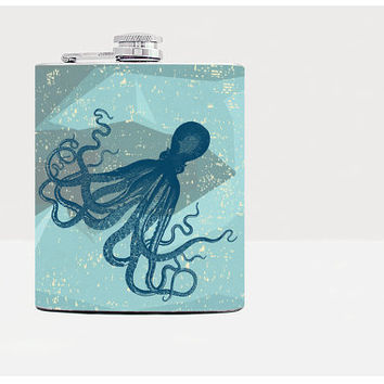 Octopus hip flask - Gift for him - Hip flask - Gift for men - Gifts for men - Hip fasks - Flask
