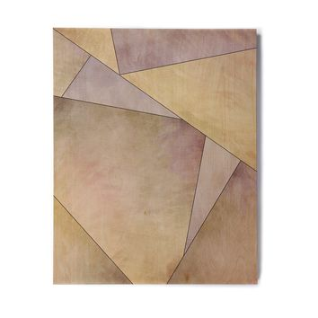 "Sylvia Cook ""Fracture"" Purple Gold Digital Birchwood Wall Art"