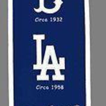 Los Angeles LA Dodgers MLB 8x32 Embroidered Wool Heritage Banner FREE US SHIP