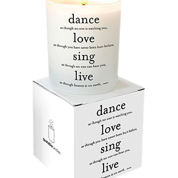 Dance, Love, Sing Candle