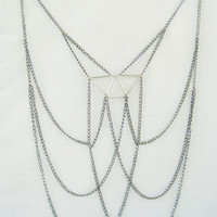 The trapezium body chain  The Lily by GeometricSkies on Etsy